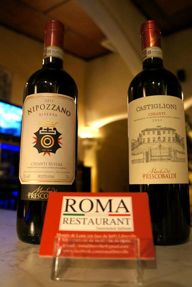 Chianti, Vin, Tuscane, Roma Restaurant, Libreville - Gabon