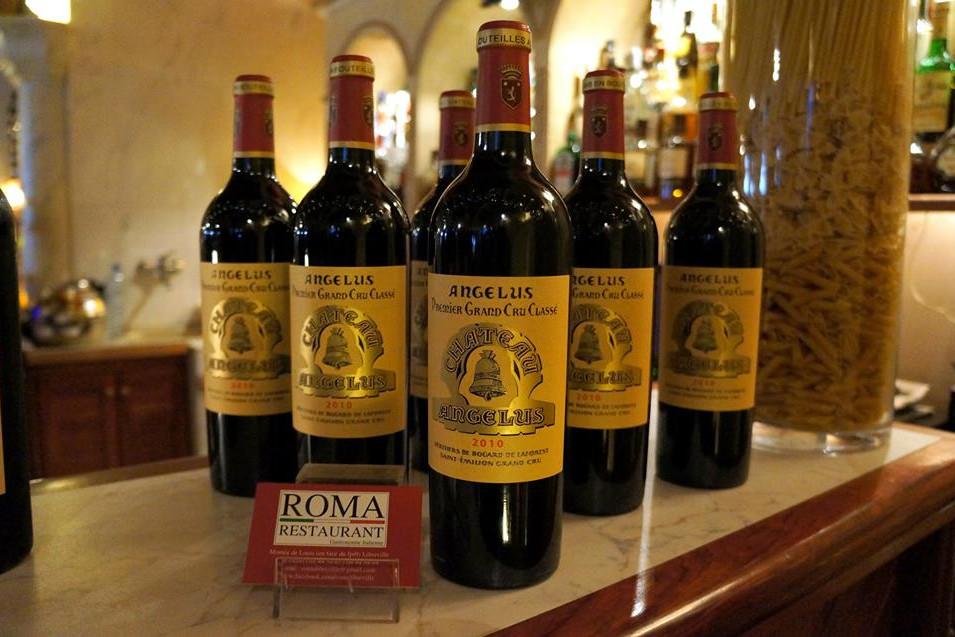 Chateau Angeleus, BOrdeaux, Grand Vin, Roma Restaurant, Libreville - Gabon
