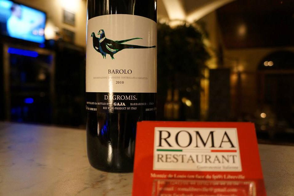 Barolo, Gaja, Vin, Roma Restaurant, Libreville - Gabon