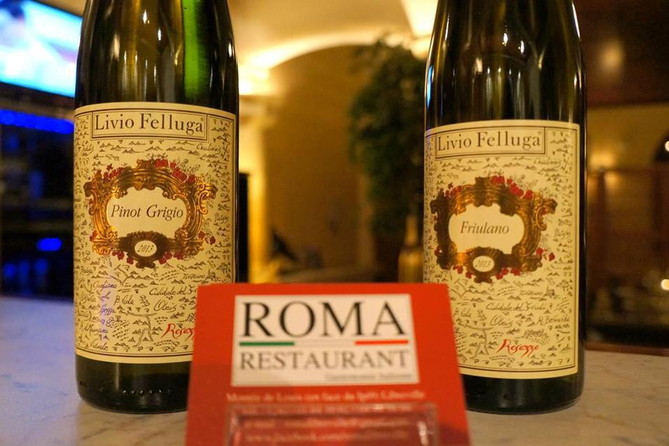 Vin Blanc, Livio Felluga, Shariz, Pinot Grigio, Friuliano, Ribolla Gialla, Roma Restaurant, Libreville - Gabon