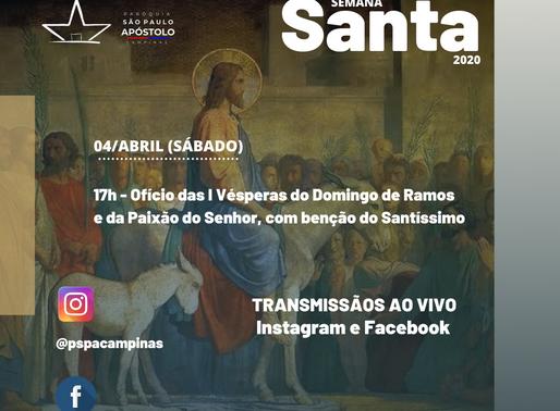 I Vésperas do Domingo de Ramos da Paixão do Senhor