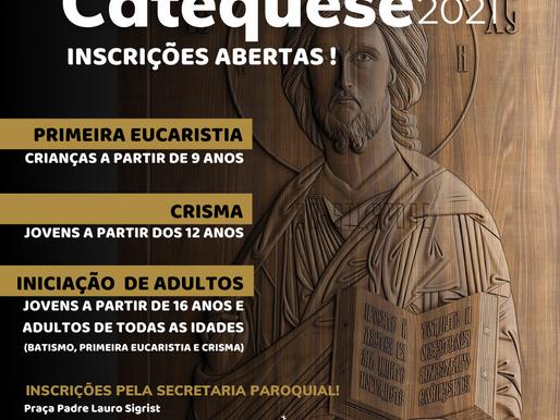 Catequese 2021 - Inscrições Abertas!