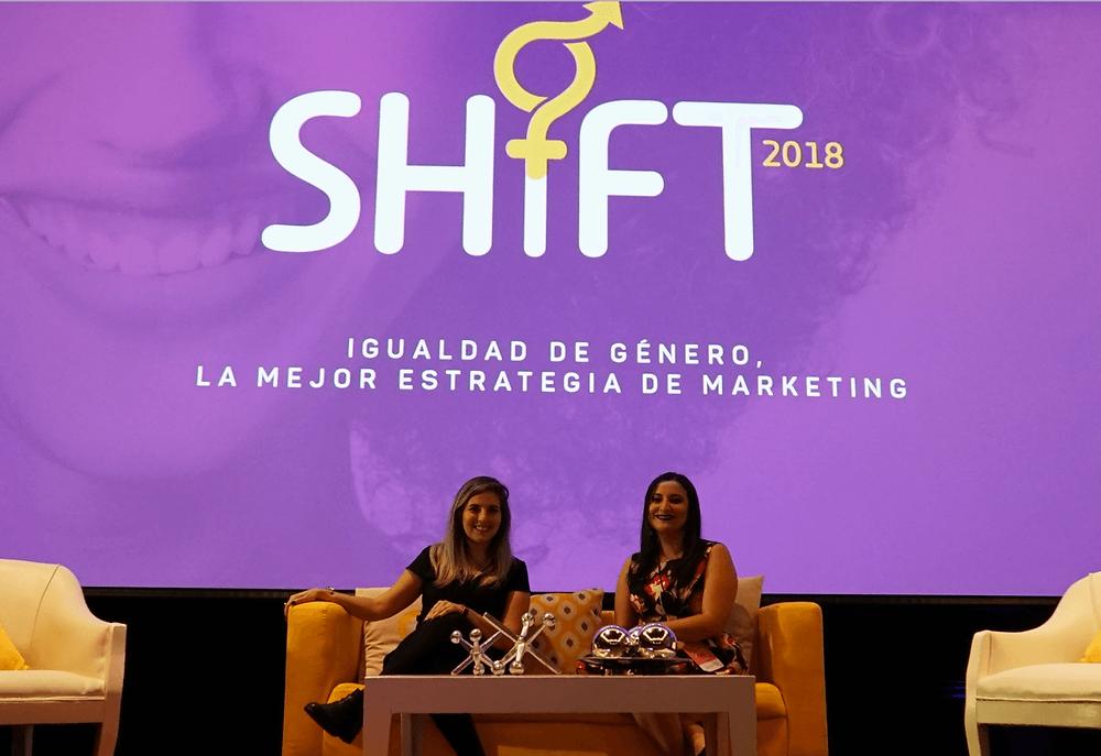 campaña Shift 2018. Elena Faba y Cynthia Castro