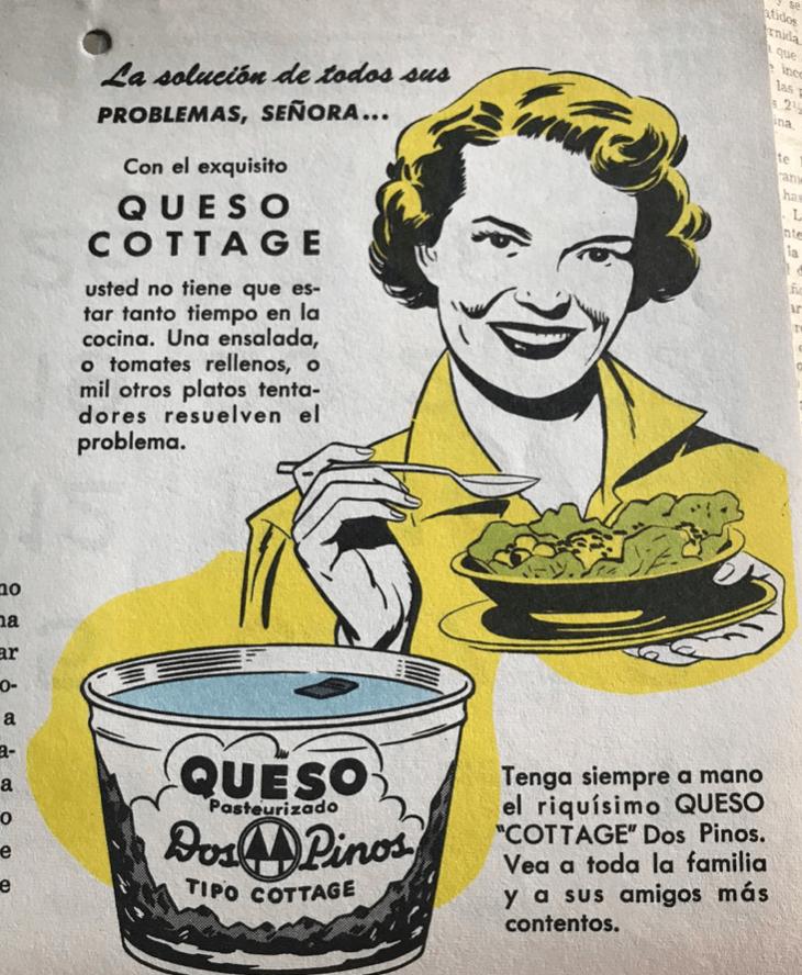 Campaña de marketing. Imagen de queso ricotta Dos pinos