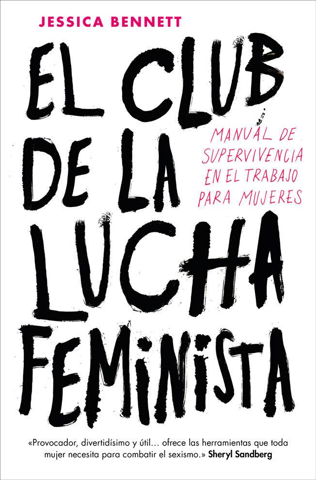 El club d ela lucha feminista. Portada blanca con letras negras.