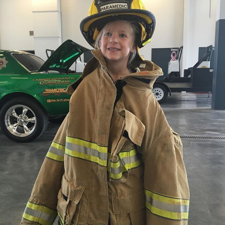 Weber Fire District Open House. She even