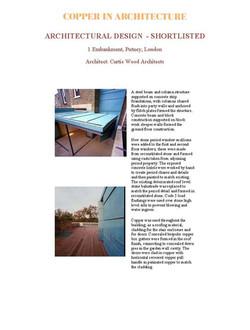 2003 Copper in Architecture Awards