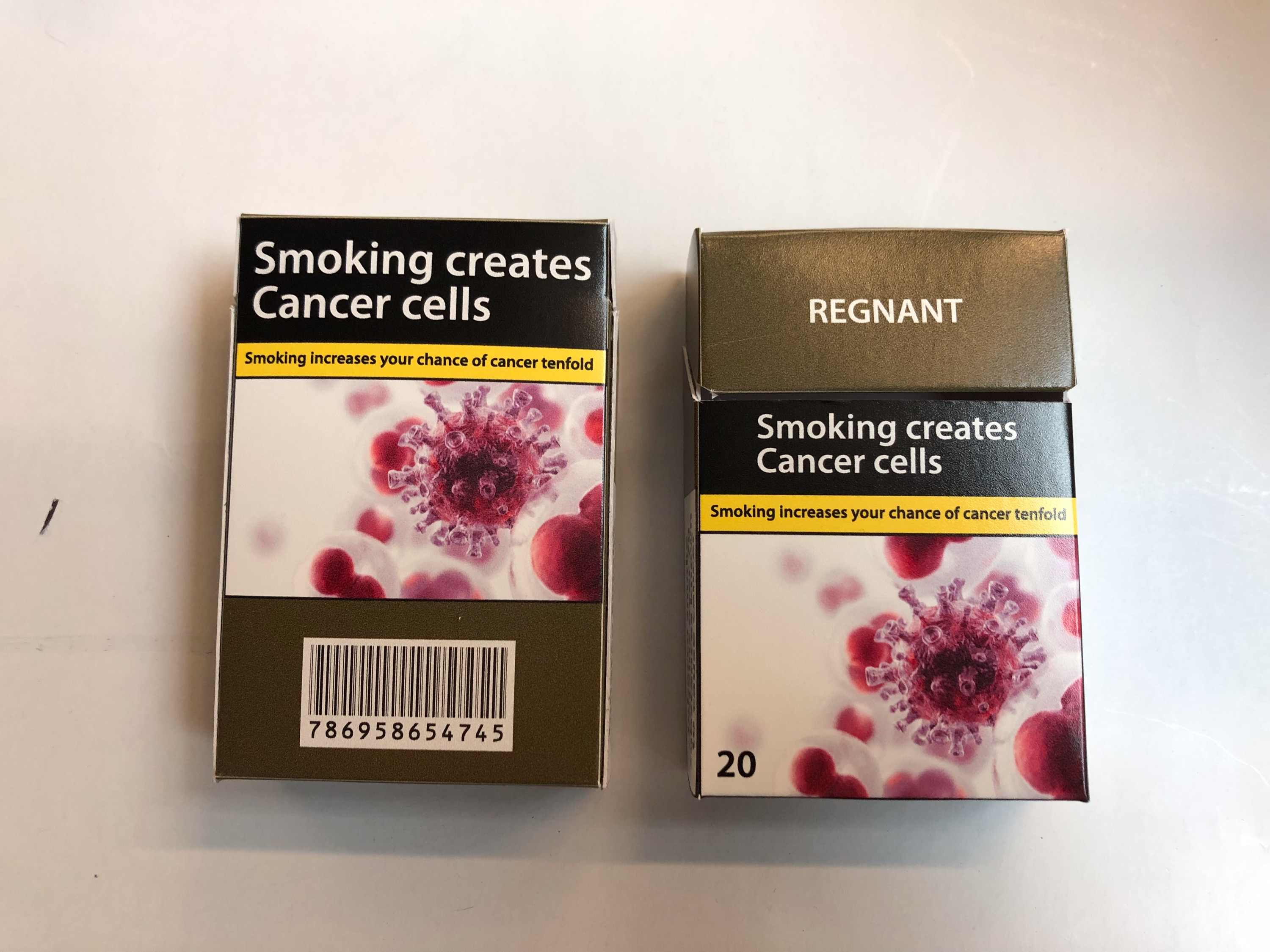 Fake cigarette boxes