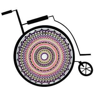 Wheelchair-with-spoke-guards-Laura_vrij_