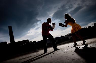 Boxing engagement photos