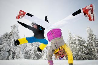 Skiing Engagement Shoot