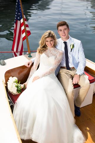 Newport Wedding boat