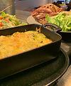 gratin et salade