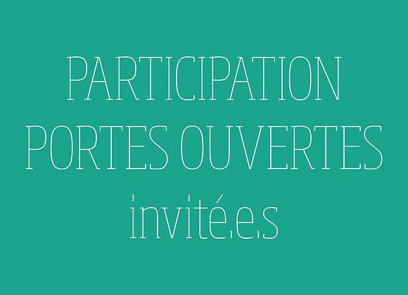 """Participation aux portes ouvertes (tarif """"invité.e.s"""")"""