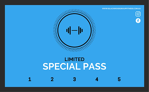 PM Only 5 Visit Class Pass