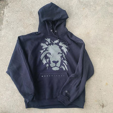 Charcoal on Black Lion Hoodie