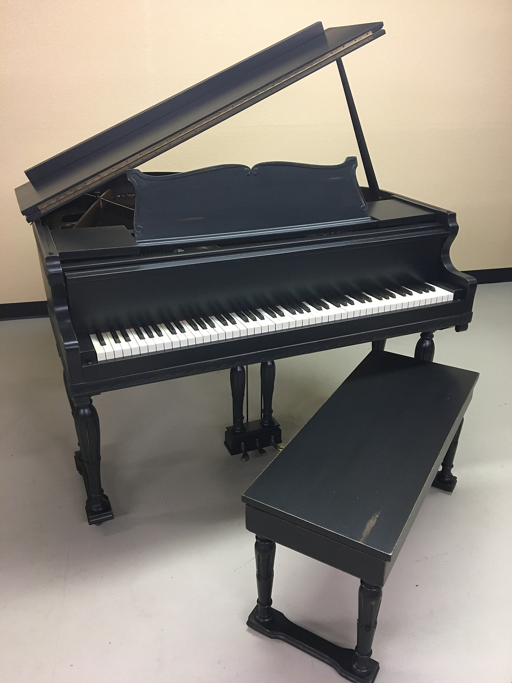 Painted Black Grand Piano