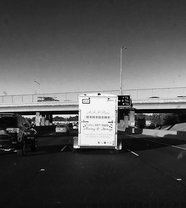 Piano Moving Trailer on 50 Freeway