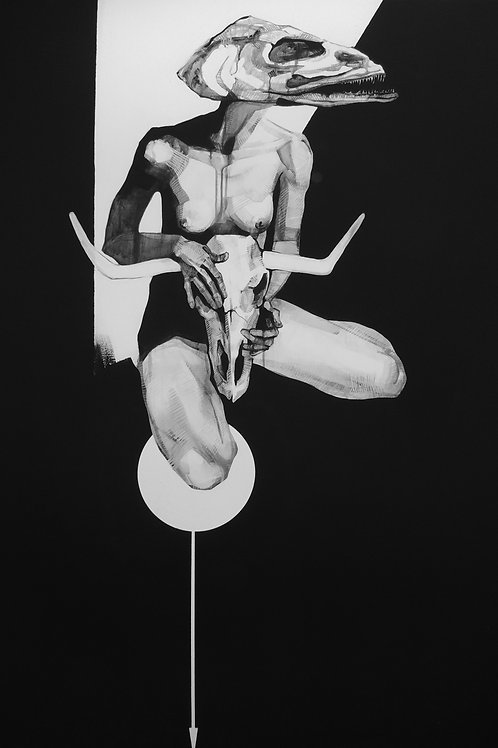 """Idealistic self-portrait with the head on a platter"", Aljona Shapovalova»"