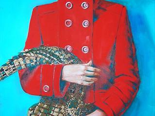 Выставка картин Анны Красной в выставочном пространстве ресторана Biblioteka