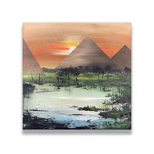 Sunset By The Pyramids