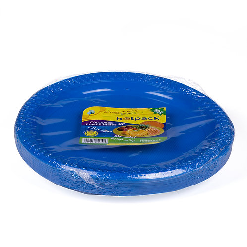 "Hotpack-coloured plastic plates 10"" multicolor       –  25pcs"
