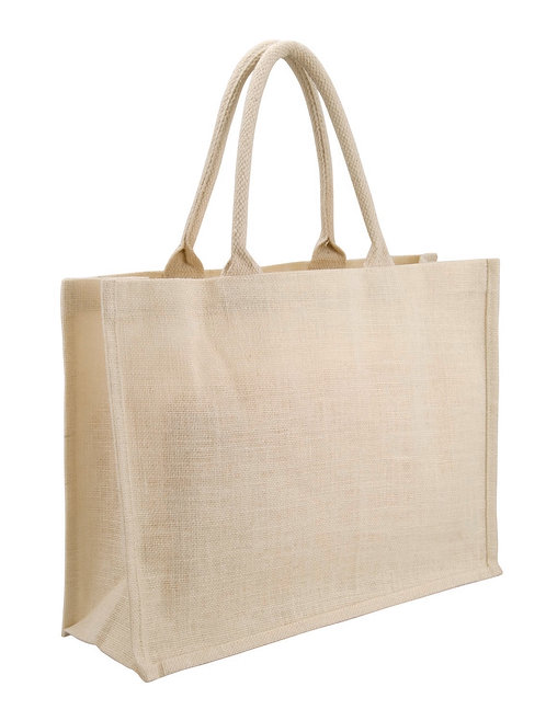 Jute Sh. Bag - Horizontal - White
