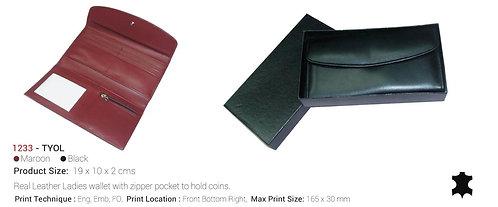 TYOL Ladies Wallet W/ Zipper Pocket To Hold Coins Maroon