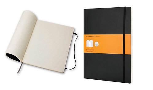 Moleskine Classic Large Ruled Soft Cover Notebook - Black