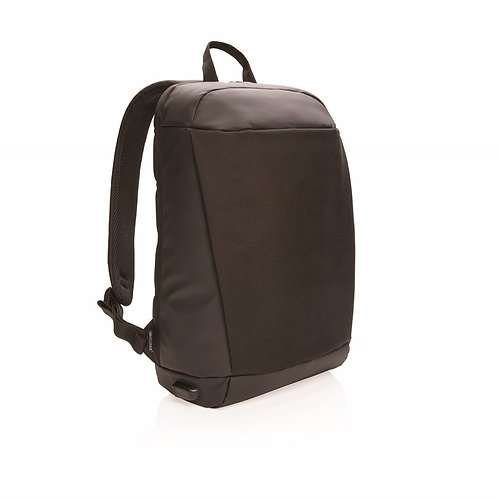 MADRID - Anti-Theft RFID USB Laptop Backpack PVC Free - Bla