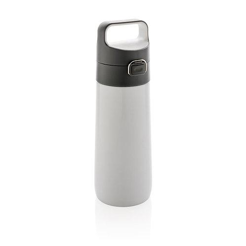 HYDRATE FLASK - Leak Proof Vacuum Lockable Flask-White/Grey