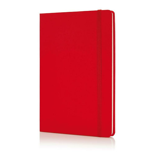 Santhome Bukh Hardcover A5 Ruled PVC Notebook Red