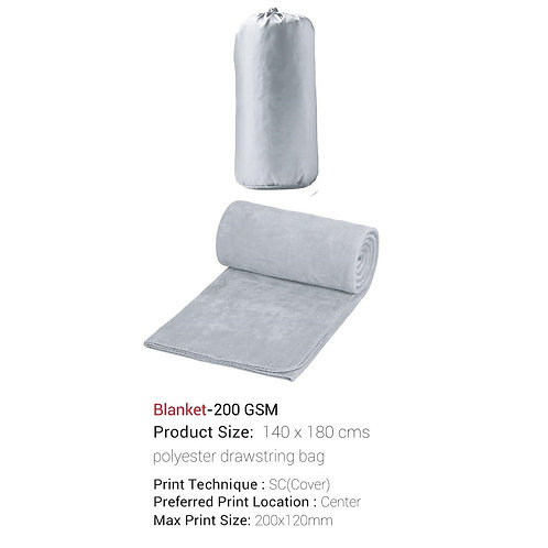 Size: 140 X 180 Cm In Polyester Drawstring Bag