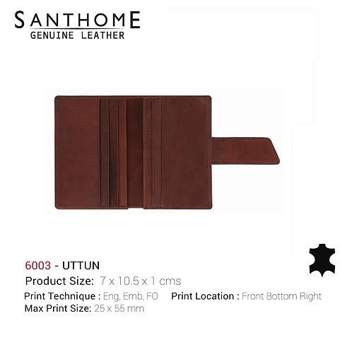 Santhome UTTUN Real Leather Card Wallet Cow Oil Pull-up
