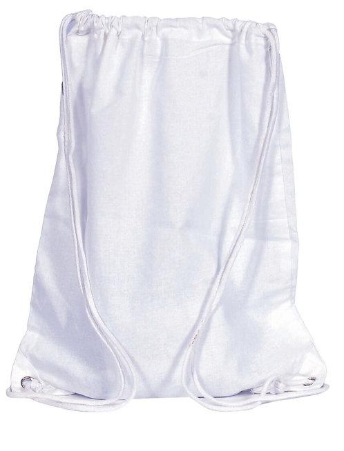 Eco Friendly Cotton Draw String Bags-White