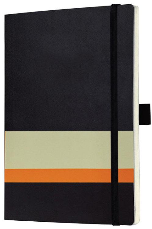 Santhome Plabuk Softcover Plain A5 PVC Notebook Black