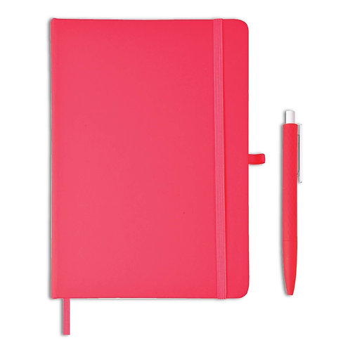 Giftology Libellet A5 Notebook With Pen Set (Red)