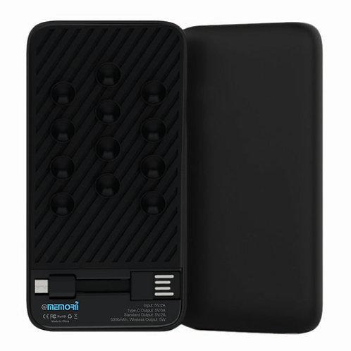 WARSAW - 5000 MAH Wireless Powerbank - Black