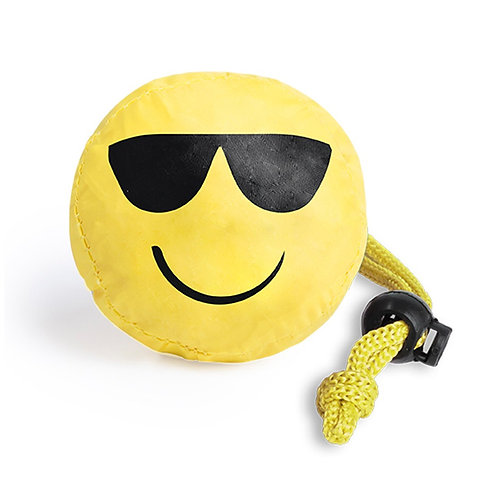 Folding Bag With Fun Emoji Designs - Sunglass