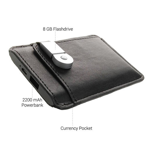 Satilo Wallet With An 8 GB USB Flash Drive & 2200m