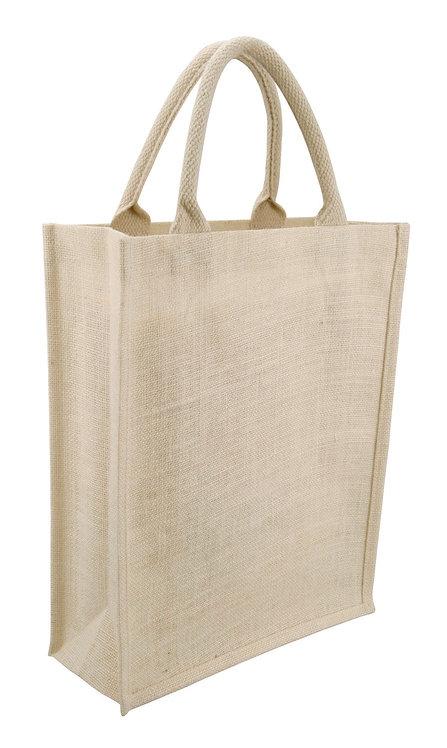 Jute Sh. Bag - Vertical - White