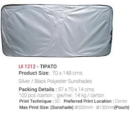 TIPATO Silver / Black Polyester Sunshades