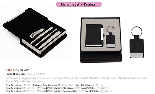 Manike Manicure And Keychain Gift Set
