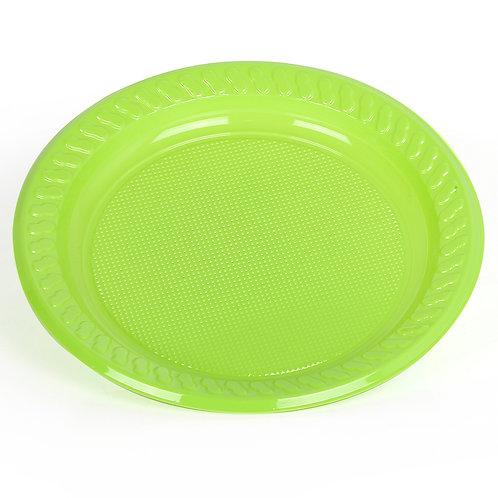 "Hotpack-coloured plastic plates 9"" multicolor    - 25 pcs"