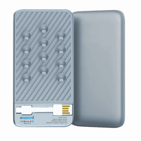 WARSAW - 5000 MAH Wireless Powerbank - Silver