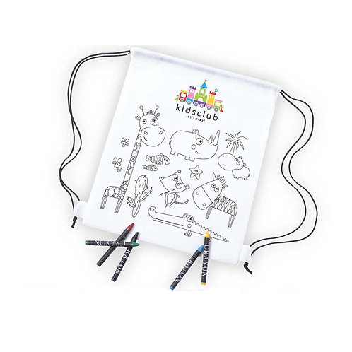 Backpack Of Non-woven In White Color