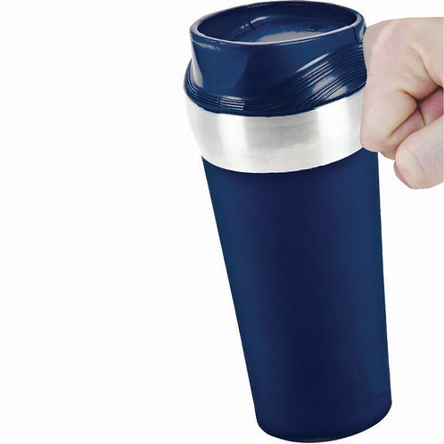 RANIS - Vacuum Coffee Suction Mug - Navy Blue