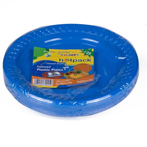 "Hotpack-coloured plastic plates 7"" multicolor   – 25pcs"