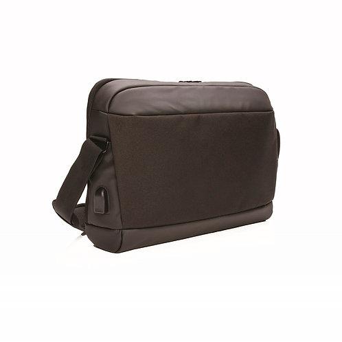 MADRID - RFID USB 15.6Inch Laptop Bag PVC Free - Black
