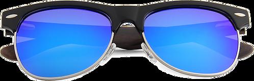 Real Ebony Zebrawood Browline Style RetroShade Sunglasses by WUDN